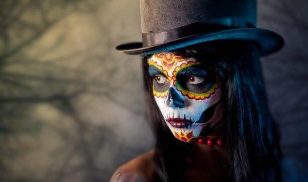 Pintura para cara cuerpo colores y fotos catrina mexico