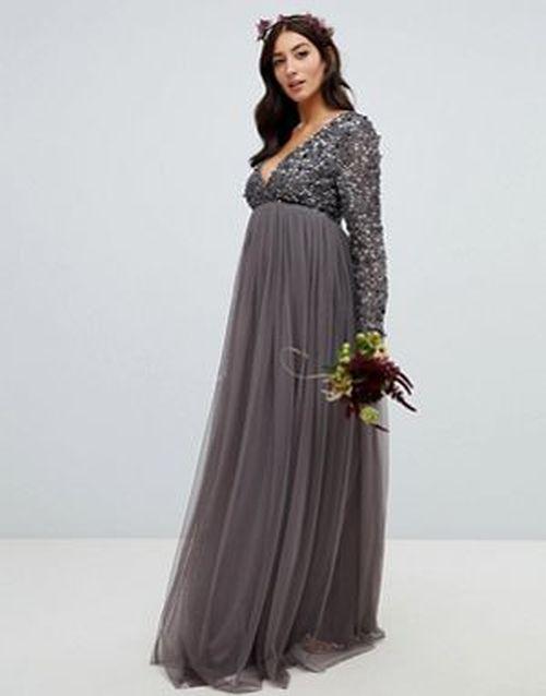 vestidos-de-fiesta-premama-lentejuelas-antracita-maya-maternity-asos