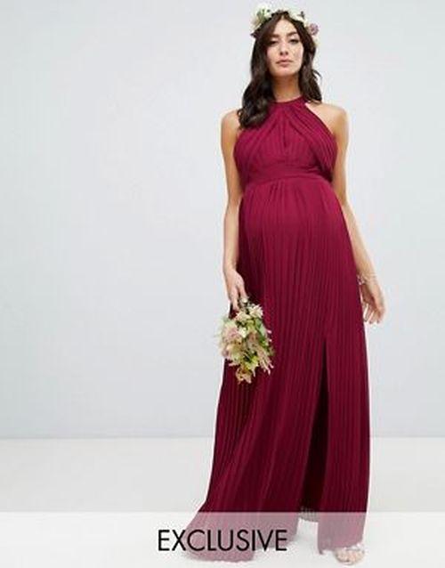 vestidos-de-fiesta-premama-plisado-dama-de-honor-burdeos-asos