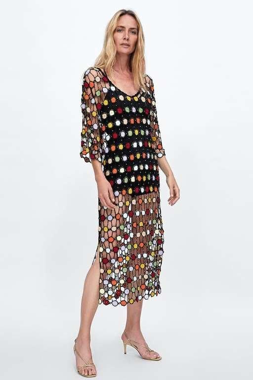 los-vestidos-de-fiesta-zara-crochet-multicolor