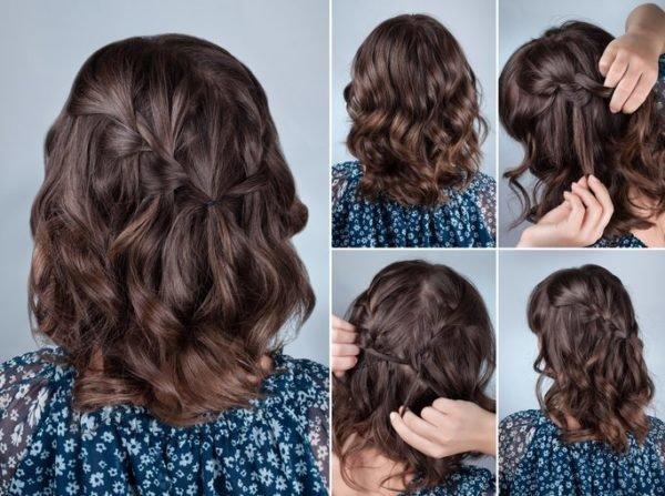 Peinados para pelo rizado pelo corto con trenzas