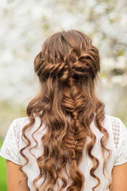 Peinados para pelo rizado pelo largo