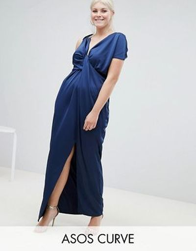 vestidos-de-fiesta-para-gorditas-saten-drapeado-asos-design-curve