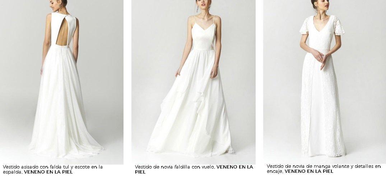 Vestidos de novia El Corte Inglés 2021. Veneno en la piel