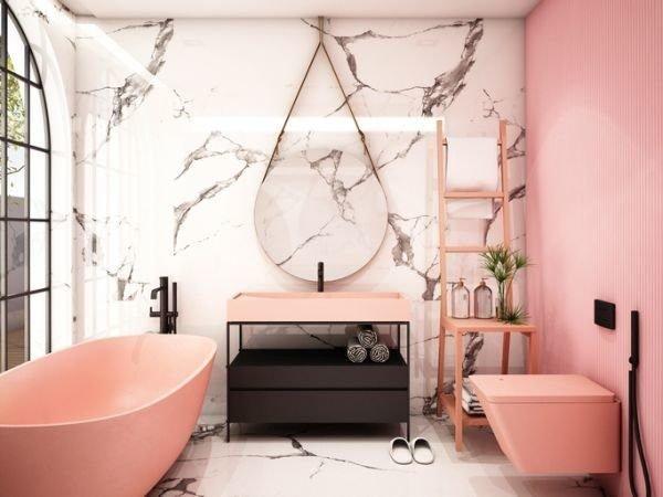 colores-para-cuartos-de-bano-pequenos-coral-marmol-blanco-istock
