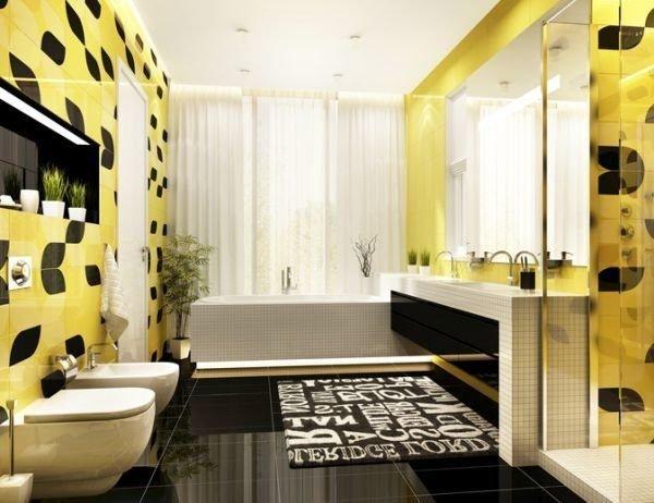 colores-para-cuartos-de-bano-pequenos-negro-amarillo-istock