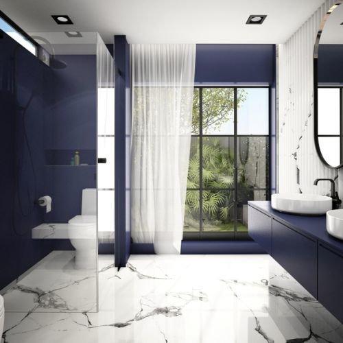 colores-para-cuartos-de-bano-pequenos-negro-zul-blanco-istock