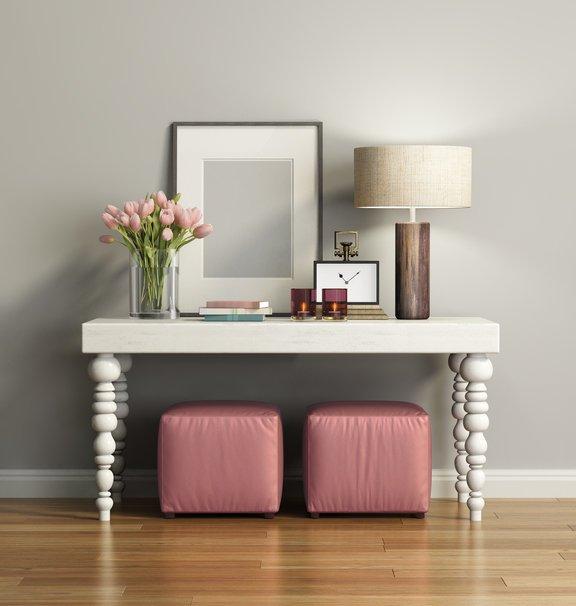Como decorar un pasillo largo mesa y flores