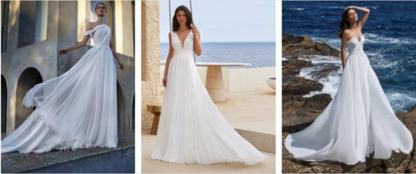 Vestidos de novia de gasa