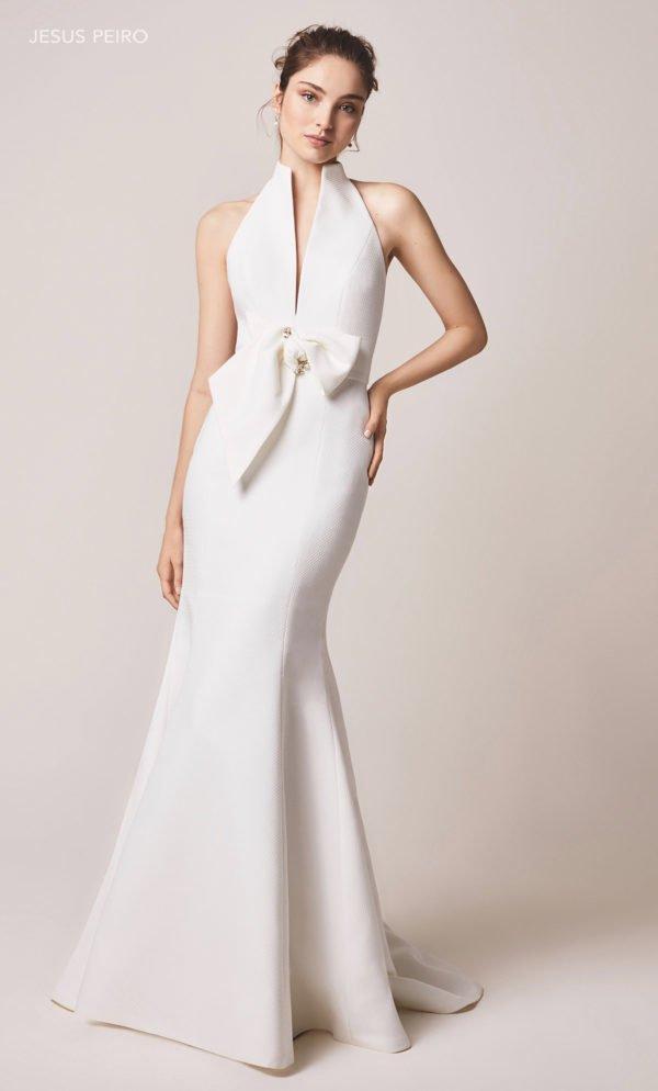 Vestido de novia sirena con lazo
