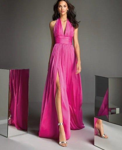 Vestido rosa de fiesta Pronovias