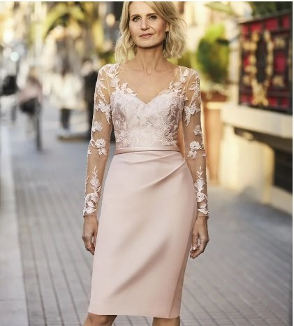Vestido de fiesta corto Pronovias rosa claro