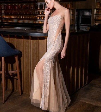 Vestido de fiesta Pronovias en crudo