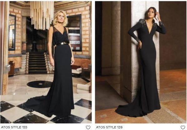 Vestidos de fiesta largo Pronovias negros