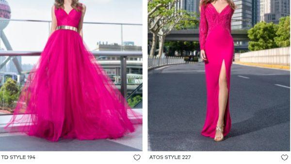 Vestidos largos de fiesta Pronovias en rosa