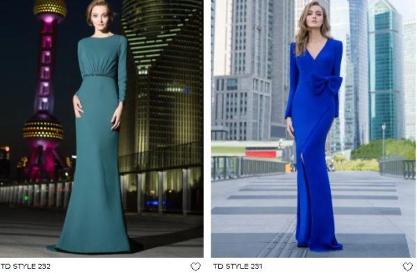 Vestidos de fiesta largos pronovias en azul