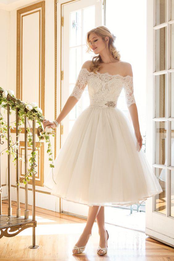 Vestido de boda corto