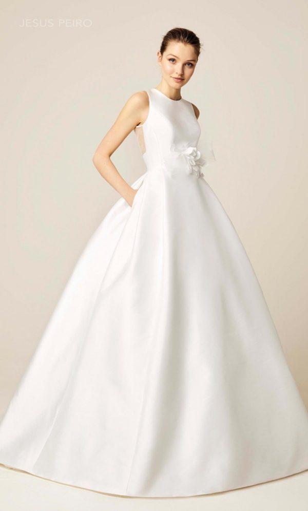 Vestido de boda civil cuello halter