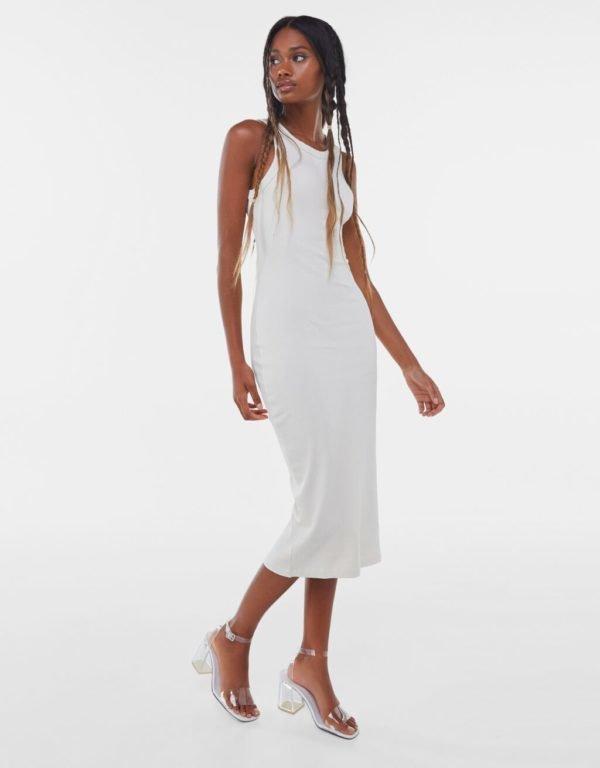 Bershka vestidos verano 2021 vestido largo blanco