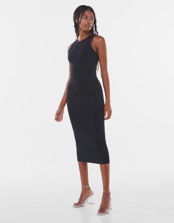 Bershka vestidos verano 2021 vestido largo negro