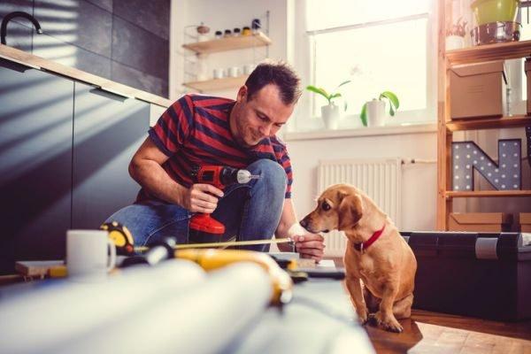 planes-para-hacer-en-casa-cuarentena-coronavirus-reparacion-bricolage-perro-istock