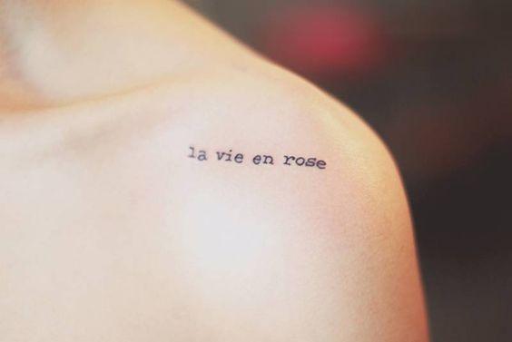 Tatuajes frases en frances