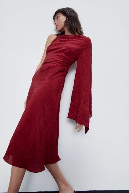 vestidos-de-fiesta-zara-2020-midi-asimetrico-granate