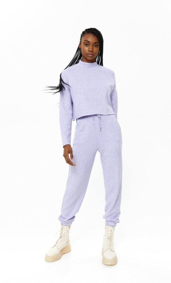 REBAJAS STRADIVARIUS Invierno 2021 pantalon jogger lila