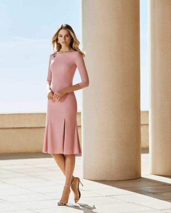 Vestidos de fiesta rosa clara otoño invierno 2021 2022 vestido 4t134