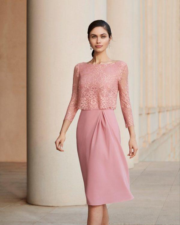 Vestidos de fiesta rosa clara otoño invierno 2021 2022 vestido 4t188