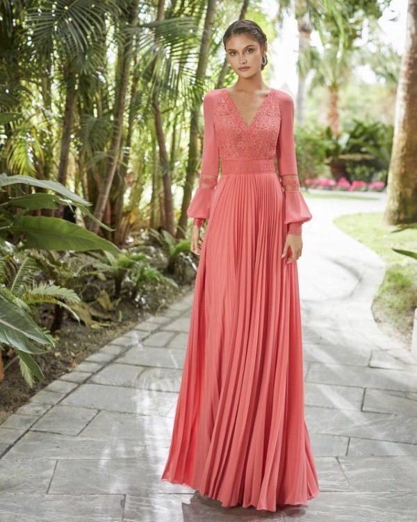 Vestidos de fiesta rosa clara otoño invierno 2021 2022 vestido 5t174