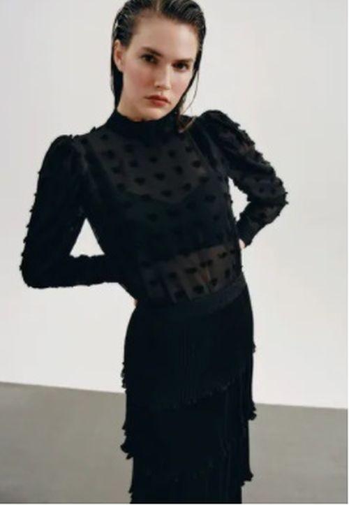 Falda plumeti volantes Zara 2020