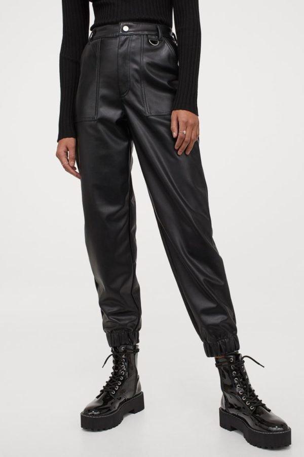 Catálogo H&M otoño invierno 2020-202-pantalon-piel-sintetica