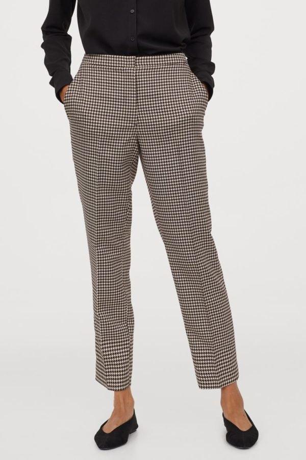 Catálogo H&M otoño invierno 2020-202-pantalon-pitillo-cuadro