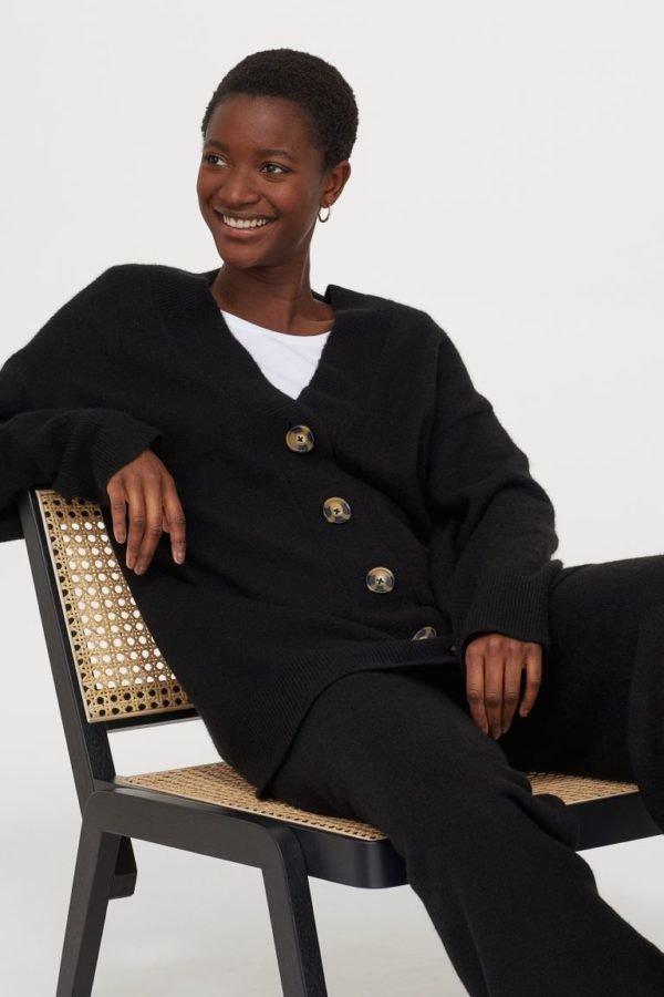 Catálogo H&M otoño invierno 2020-2021-jersey-cardigan-punto