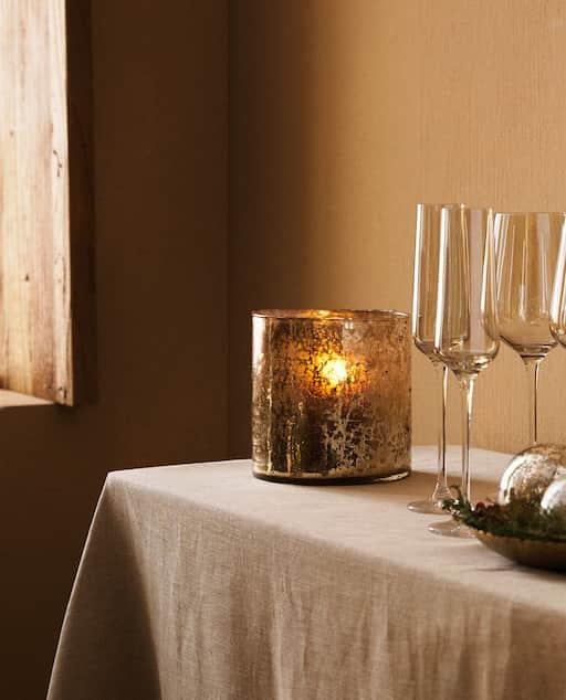 Catálogo Zara Home Navidad 2020 candelabro cristal