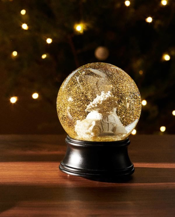 Catálogo Zara Home Navidad 2020 bola nieve vidrio