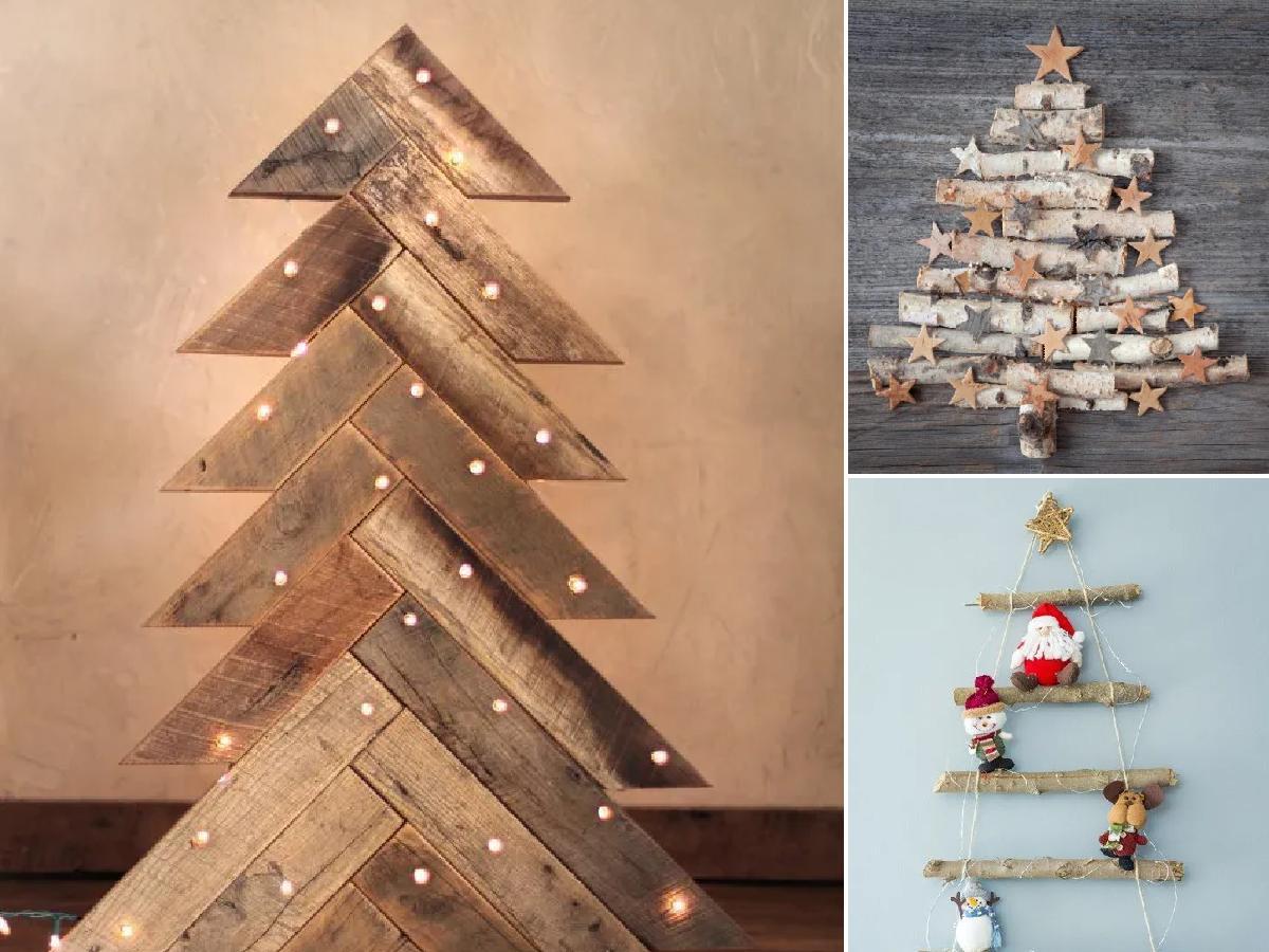 Árboles de Navidad con materiales reciclados 2020