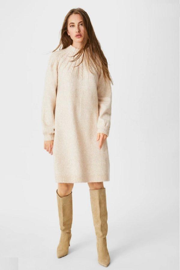 Vestido punto C&A otoño invierno 2020-2021