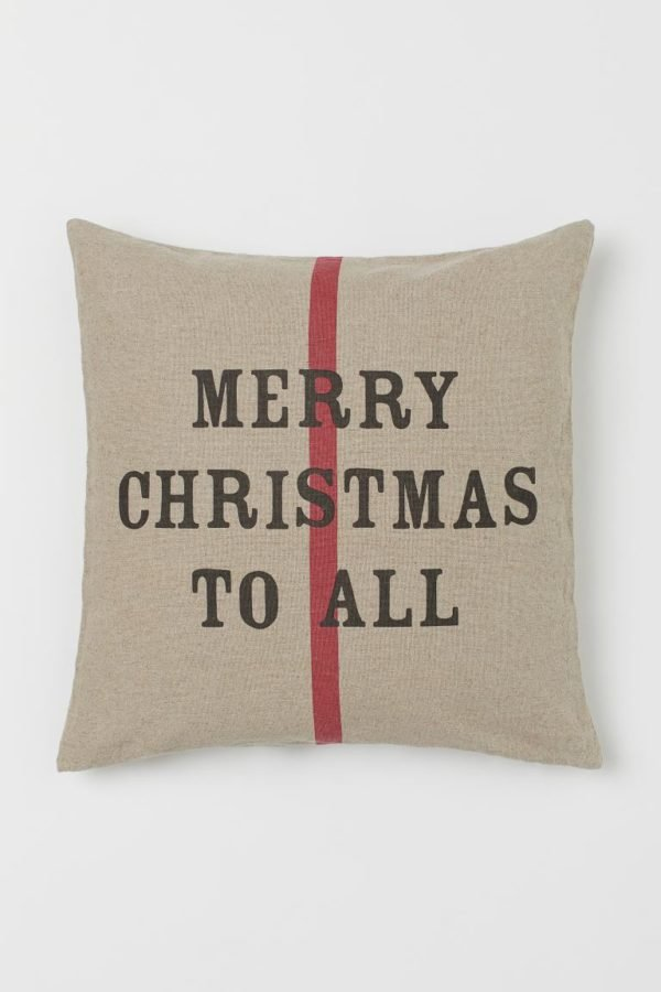Catálogo H&M Home Navidad 2020 cojín mensaje
