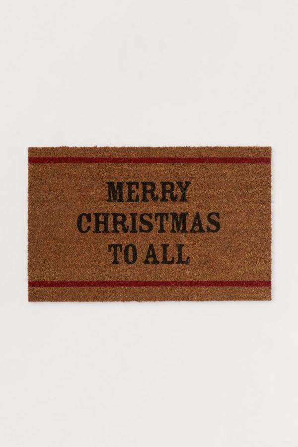 Catálogo H&M Home Navidad 2020 felpudo