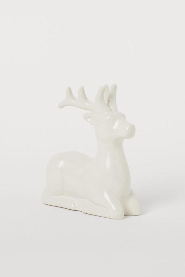 Catálogo H&M Home Navidad 2020 figura ceramica