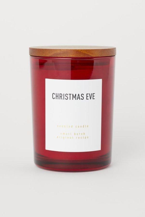 Catálogo H&M Home Navidad 2020 vela aromatica frasco