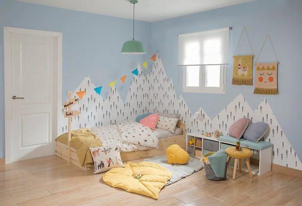 Catalogo Leroy Merlin 2021 papel pintado dormitorio niños