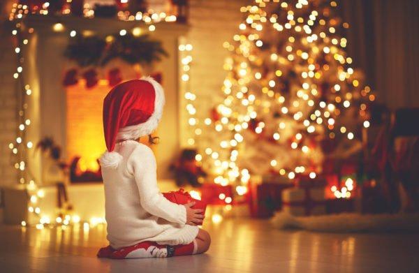 Decoracion luces navidad arbol