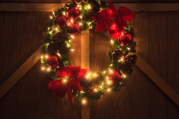 Decoracion luces navidad corona navidad