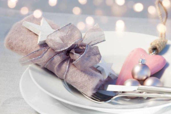 Lazos de navidad 2020 manualidades faciles ideas lazo tela transparente servilletas