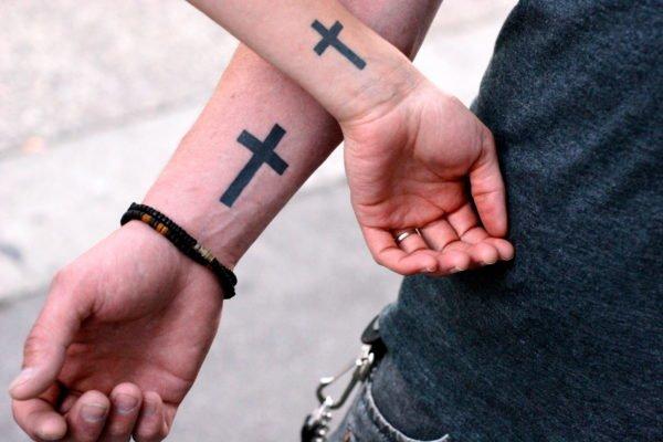 Tatuajes para parejas 2021 cruces
