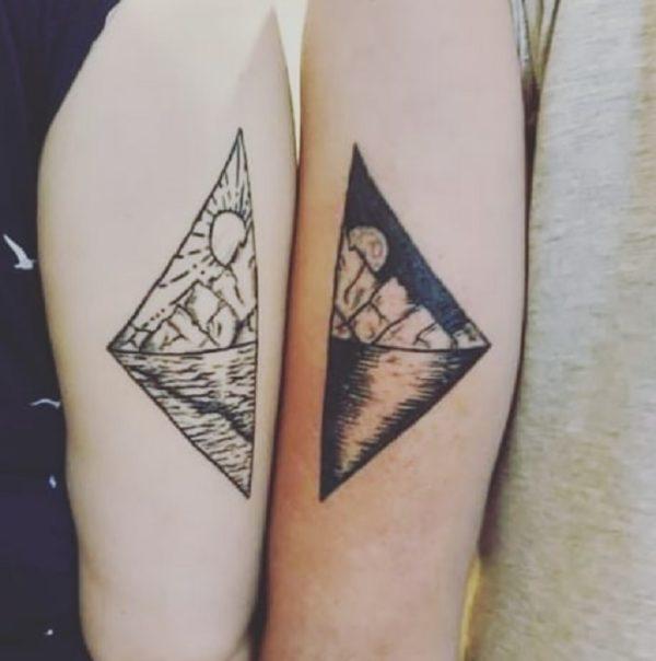 Tatuajes para parejas 2021 paisaje