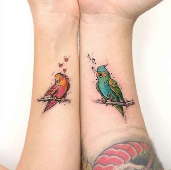 Tatuajes para parejas 2021 pajaros